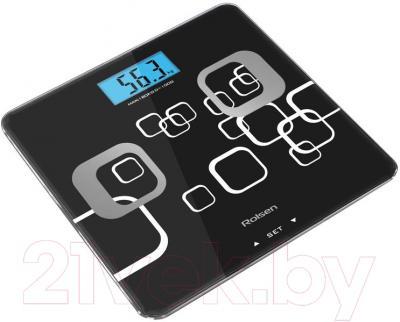 Напольные весы электронные Rolsen RSL1807 (черный)