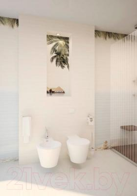 Декоративная плитка для ванной Уралкерамика Дель Маре ВС9ДМ644 (249x500, голубой/коричневый)