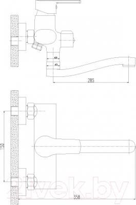 Смеситель Rossinka Silvermix J35-34 - схема
