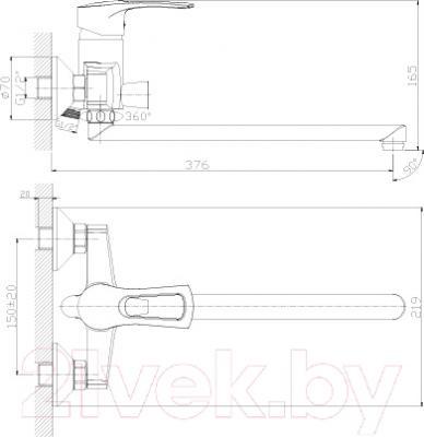 Смеситель Rossinka Silvermix T40-32 - схема