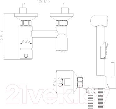 Смеситель Rossinka Silvermix X25-52 - схема