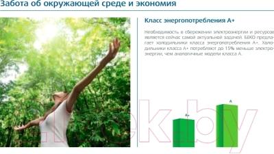 Холодильник с морозильником Beko RCNK321E20B