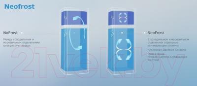 Холодильник с морозильником Beko RCNK356E21X - технология NeoFrost