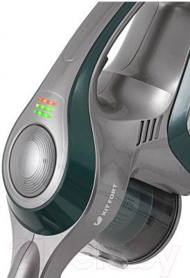 Вертикальный пылесос Kitfort KT-515-3 (серо-зеленый)
