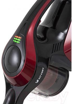Вертикальный пылесос Kitfort KT-515-1 (красно-черный)