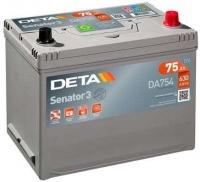 Автомобильный аккумулятор Deta Senator3 DA754 (75 А/ч) -