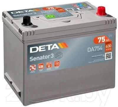 Автомобильный аккумулятор Deta Senator3 DA754 (75 А/ч)