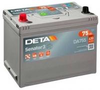 Автомобильный аккумулятор Deta Senator3 DA755 (75 А/ч) -