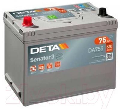 Автомобильный аккумулятор Deta Senator3 DA755 (75 А/ч)