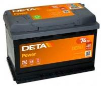 Автомобильный аккумулятор Deta Power DB 741 R (74 А/ч) -