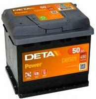 Автомобильный аккумулятор Deta Power DB501 (50 А/ч) -