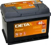 Автомобильный аккумулятор Deta Power DB602 (60 А/ч) -