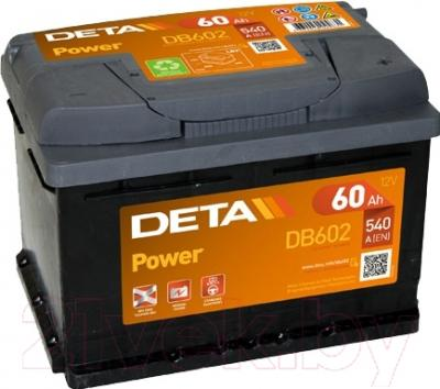 Автомобильный аккумулятор Deta Power DB602 (60 А/ч)