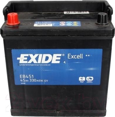 Автомобильный аккумулятор Exide Excell EB451 (45 А/ч)