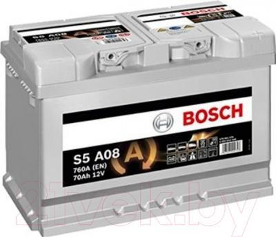 Автомобильный аккумулятор Bosch S5 092 S5A 080 AGM (70 А/ч)