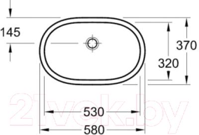 Умывальник Villeroy & Boch O.Novo 53x32 (4162 5001)