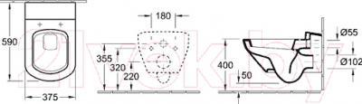 Унитаз подвесной Villeroy & Boch Sentique (5622 1001) - схема