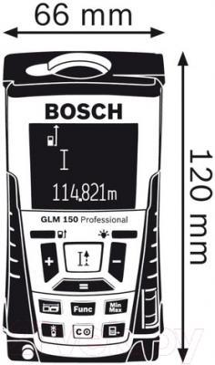 Дальномер лазерный Bosch GLM 150 (0.615.994.02H)