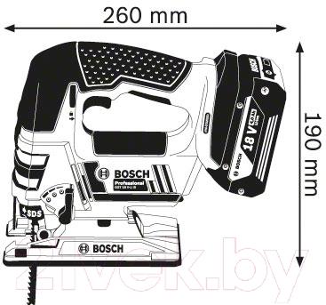 Профессиональный электролобзик Bosch GST 18 V-LI B (0.601.5A6.100)
