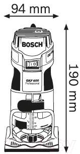 Профессиональный фрезер Bosch GKF 600 Professional (0.601.60A.100)