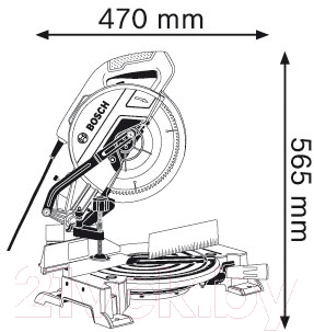 Профессиональная торцовочная пила Bosch GCM 10 MX Professional (0.601.B29.021)