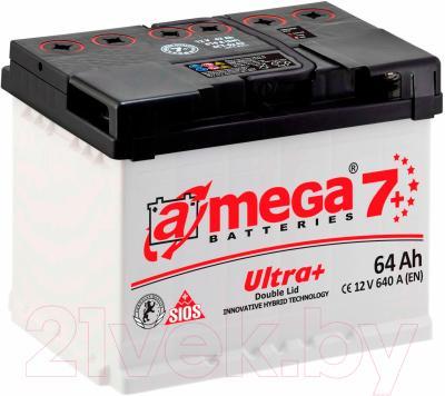 Автомобильный аккумулятор A-mega Ultra Plus 64 R (64 А/ч)
