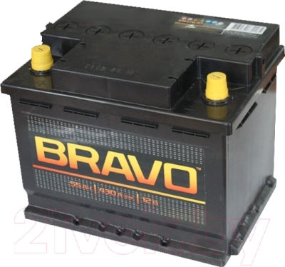 Автомобильный аккумулятор BRAVO 6СТ-55 Евро / 555010009 (55 А/ч)
