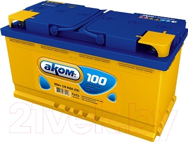 Автомобильный аккумулятор AKOM 6СТ-100 Евро / 600000009 (100 А/ч)