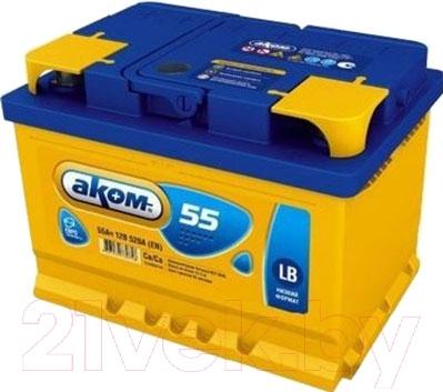 Автомобильный аккумулятор AKOM 6СТ-55 Евро / 555000000н (55 А/ч)