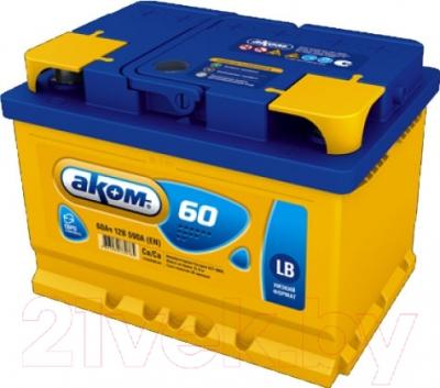 Автомобильный аккумулятор AKOM 6СТ-60 Евро / 56000000н (60 А/ч)