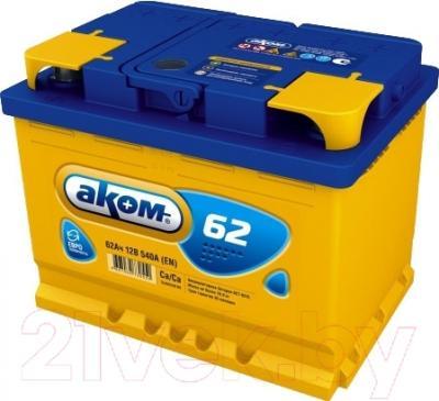 Автомобильный аккумулятор AKOM 6СТ-62 Евро / 562000009 (62 А/ч)