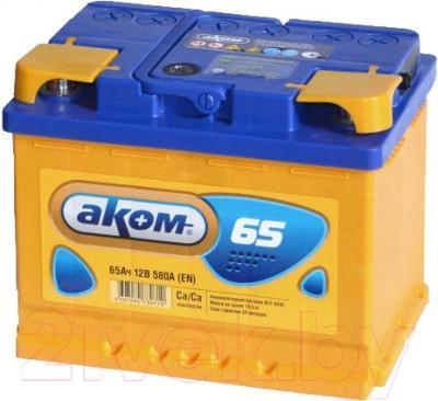 Автомобильный аккумулятор AKOM 6СТ-65 Евро / 565000009 (65 А/ч)