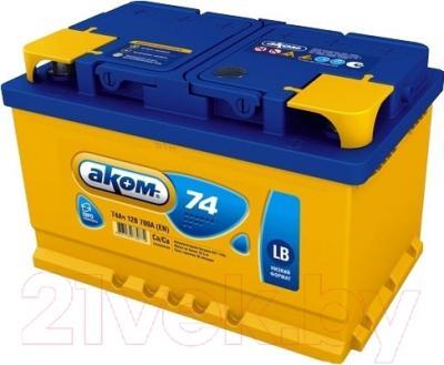 Автомобильный аккумулятор AKOM 6СТ-74 Евро / 575000010 (74 А/ч)
