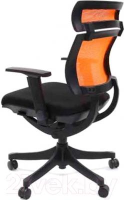 Кресло офисное Chairman Pull (черный/оранжевый)