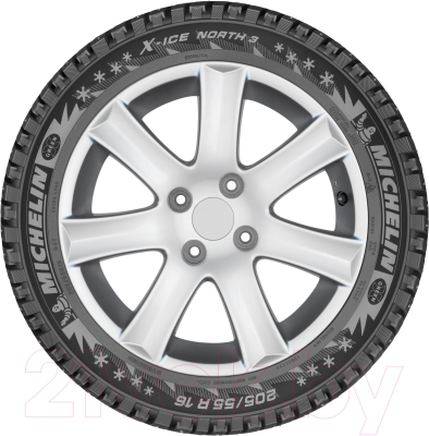 Зимняя шина Michelin X-Ice North 3 185/60R15 88T (шипы)