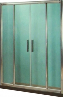Стеклянная шторка для ванны Coliseum DS 266-140 (тонированное стекло) -