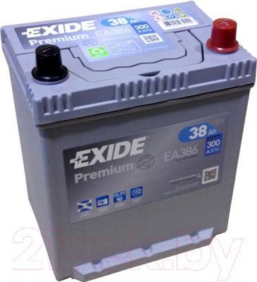 Автомобильный аккумулятор Exide Premium EA386 (38 А/ч)