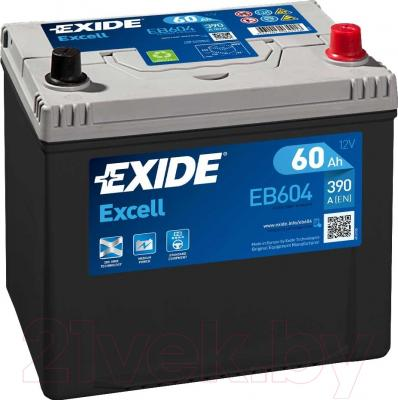 Автомобильный аккумулятор Exide Excell EB604 (60 А/ч)