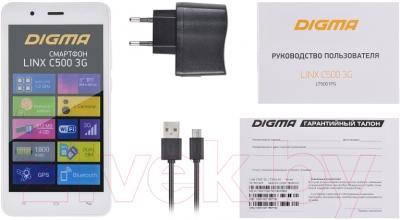 Смартфон Digma Linx C500 3G (белый)