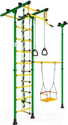 Детский спортивный комплекс Карусель 31 ДСКМ-3-8.06.Т.490.01-61 (зеленый/желтый)