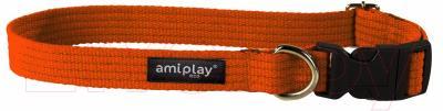 Ошейник Ami Play Cotton (M, оранжевый)