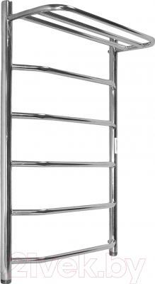 Полотенцесушитель водяной АРГО Флоран 50x100 с полочкой (боковое подключение, левое)