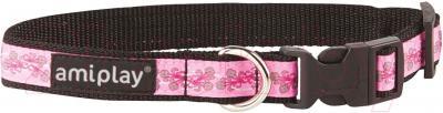 Ошейник Ami Play Joy (M, цветы,розовый)
