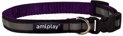 Ошейник Ami Play Shine (S, фиолетовый)