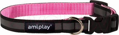 Ошейник Ami Play Shine (XL, розовый)