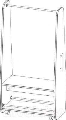 Стойка для одежды 3Dom СП500 (венге)