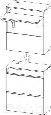 Письменный стол 3Dom СП320 (акация молдавская) - схема