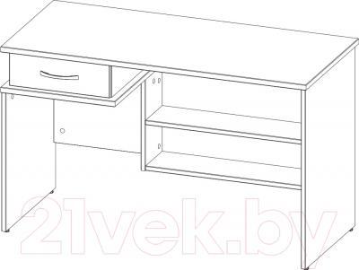 Письменный стол 3Dom СП300 (венге) - схема