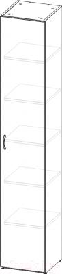 Шкаф 3Dom СП900Д (венге)