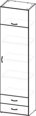 Шкаф-пенал 3Dom СП930Д (акация модавская)